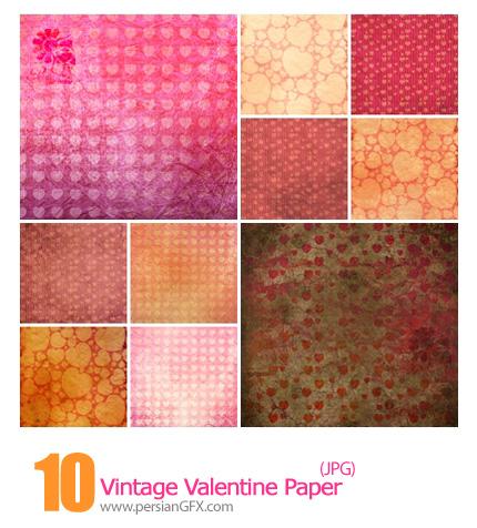 دانلود پترن های کثیف رمانتیک - Vintage Valentine Paper