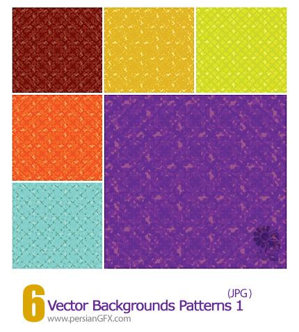 دانلود پترن های وکتور بک گراند - Vector Backgrounds Patterns 01