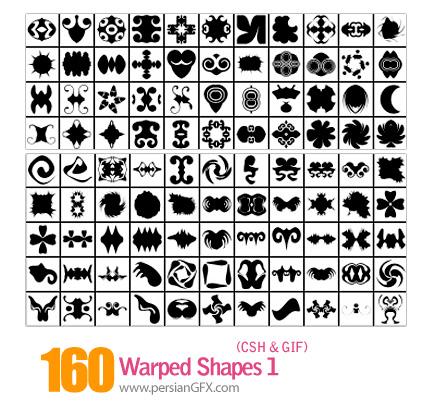 دانلود اشکال منحنی و پیچان شماره یک 160 - Warped Shapes 01