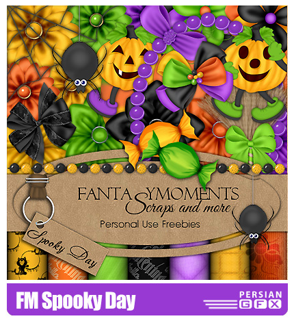 دانلود کلیپ آرت تزیینی هالووین - FM Spooky Day