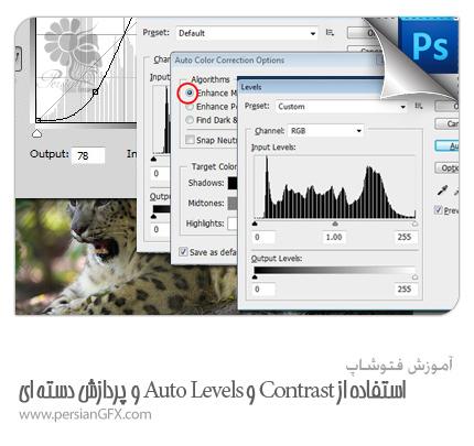 آموزش فتوشاپ - استفاده موثر از فرایندهای Contrast و Auto Levels و پردازش دسته ای