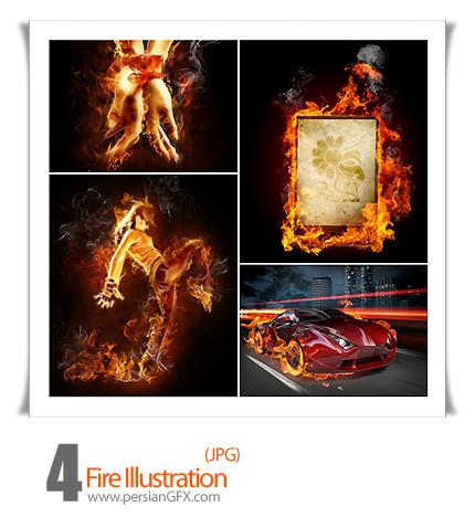 دانلود تصاویر در آتش - Fire Illustration