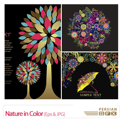 دانلود وکتور رنگ در طبیعت - Nature in Color