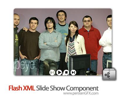 دانلود کامپوننت فلش، کامپوننت اسلاید در فلش - Flash XML Slide Show Component