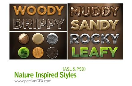 دانلود استایل های افکت متن با الهام از طبیعت - Nature Inspired Styles