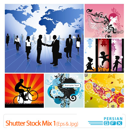 دانلود وکتور ترکیبی - Shutter Stock Mix 01