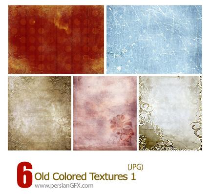 دانلود بافت رنگی قدیمی - Old Colored Textures 01