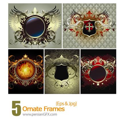 دانلود فریم وکتور تزیینی - Ornate Frames