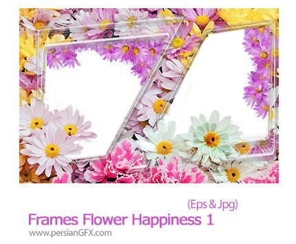 دانلود فریم لایه باز گل دار - Frames Flower Happiness 01