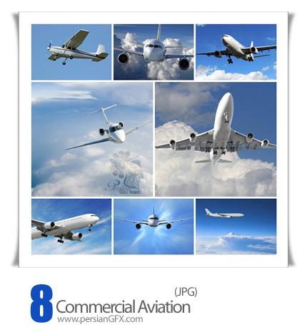 دانلود  تصاویر هواپیما، حمل و نقل هوایی - Commercial Aviation
