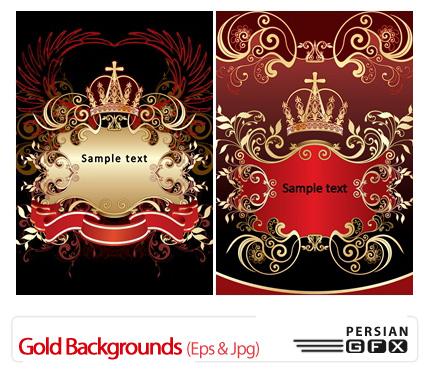 دانلود وکتور بک گراند طلایی - Gold Backgrounds
