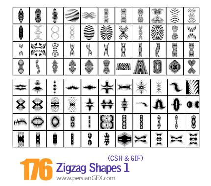 دانلود اشکال شکسته و منحنی شماره یک 176 - Zigzag Shapes 01