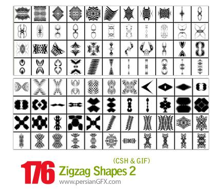 دانلود اشکال شکسته و منحنی شماره دو 176 - Zigzag Shapes 02