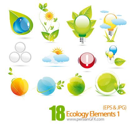 دانلود آیکون های جذاب و زیبای محیط زیست - Ecology Elements 01
