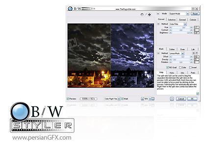دانلود نرم افزار و پلاگین افکت عکس سیاه و سفید در فتوشاپ - B/W Styler 2.0 Standalone + for Adobe Photoshop