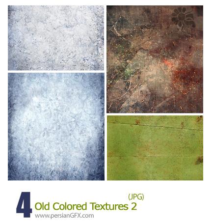 دانلود بافت رنگی قدیمی - Old Colored Textures 02