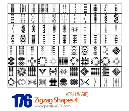 دانلود اشکال شکسته و منحنی شماره چهار 176 - Zigzag Shapes 04