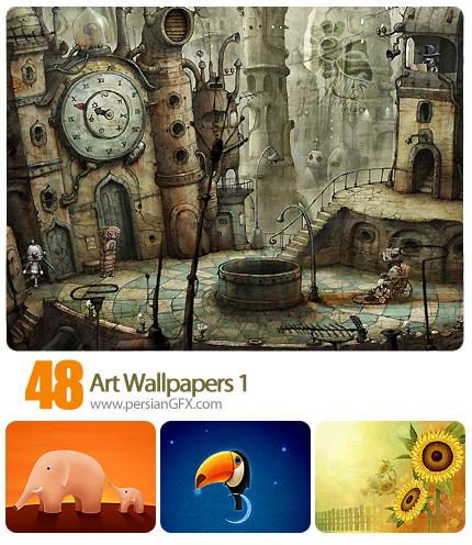 دانلود تصاویر والپیپر هنری، بک گراند - Art Wallpapers 01