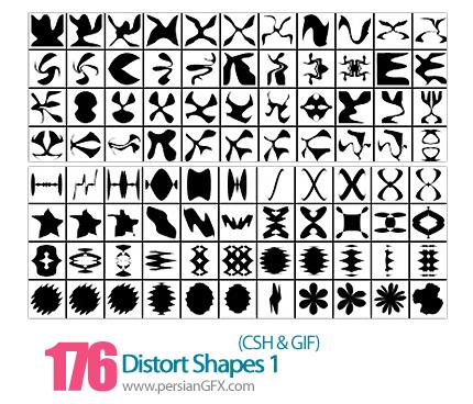 دانلود اشکال انتزاعی شماره یک 176 - Distort Shapes 01