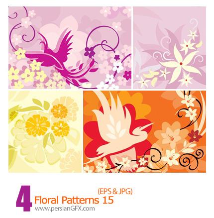 دانلود پترن های گل دار - Floral Patterns 15