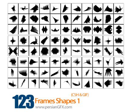 دانلود اشکال فرم شماره یک 123 - Frames Shapes 01