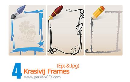 دانلود فریم وکتور - Krasivij Frames