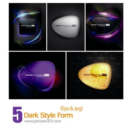 دانلود فریم وکتور استایل تاریک - Dark Style Form