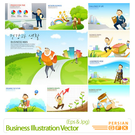 دانلود وکتورهای تجاری - Business Illustration Vector