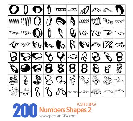 دانلود اشکال اعداد - Numbers Shapes 02