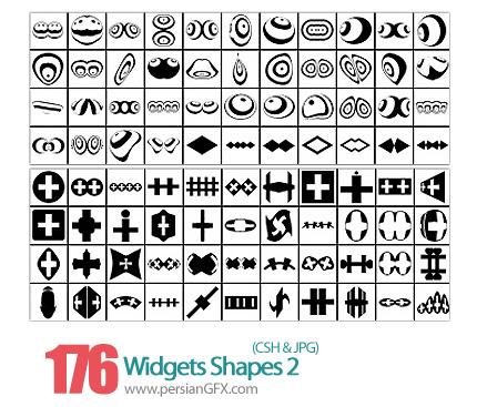 دانلود اشکال انتزاعی - Widgets Shapes 02