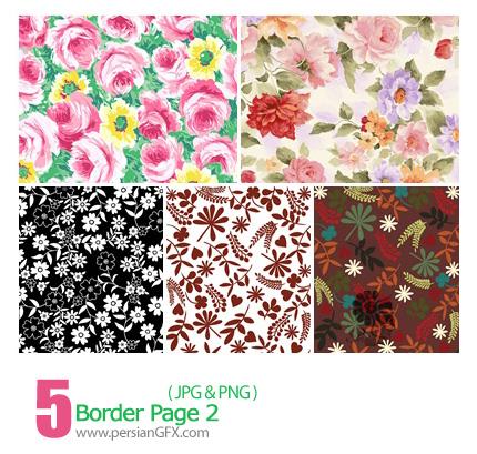 دانلود پترن های گل دار - Border Page 02