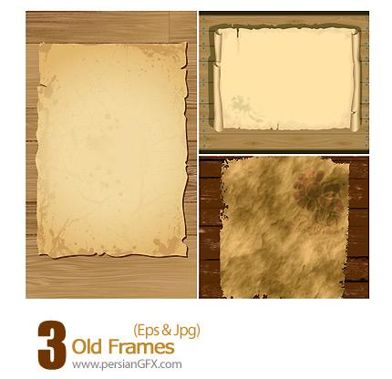 Old Photo Frames. Vector Illustration (.eps) | Vector