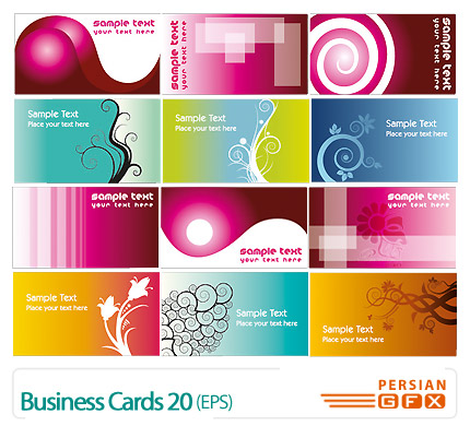 دانلود مجموعه کارت ویزیت تجاری رنگی شماره بیست - Business Cards 20