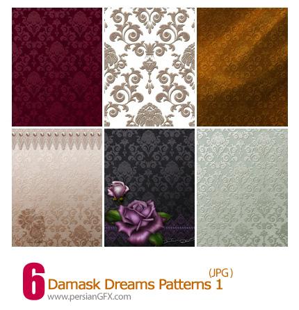 دانلود پترن های گل دار - Damask Dreams Patterns 01