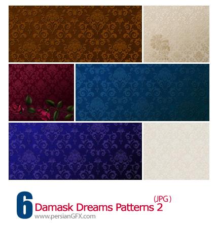 دانلود پترن های گل دار - Damask Dreams Patterns 02