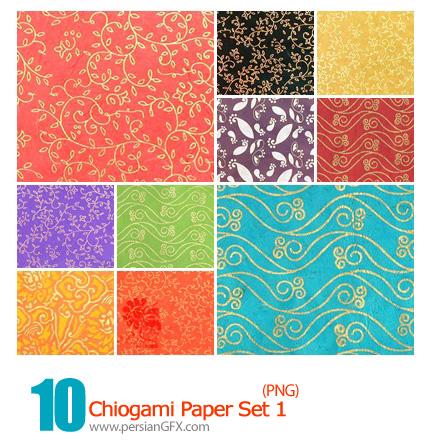 دانلود پترن های گل دار - Chiogami Paper Set 01
