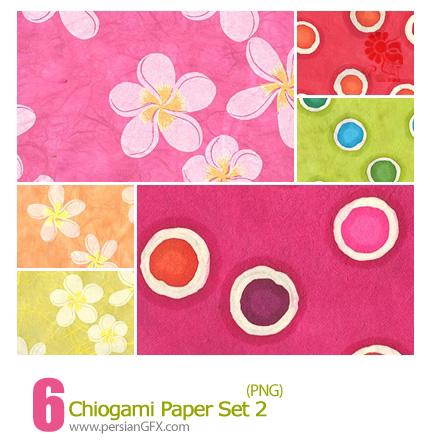 دانلود پترن های گل دار - Chiogami Paper Set 02