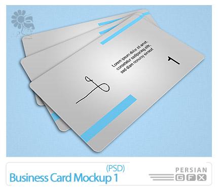 دانلود پیش نمایش کارت ویزیت تجاری - Business Card Mockup 01