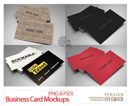 دانلود پیش نمایش کارت ویزیت تجاری - Business Card Mockups