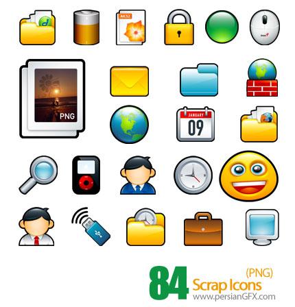 دانلود آیکون های کامپیوتر - Scrap Icons