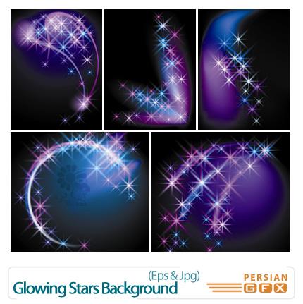 دانلود وکتورهای بک گراند ستاره - Glowing Stars Background