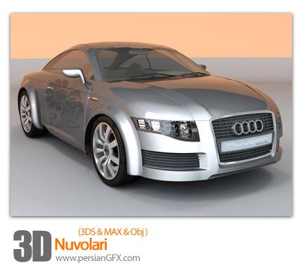 دانلود فایل آماده سه بعدی، ماشین - 3D Nuvolari