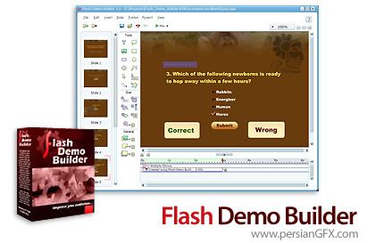 دانلود نرم افزار ساخت آموزش های الکترونیک چندرسانه ای در قالب فایل های زیبای فلش - Flash Demo Builder 3.0