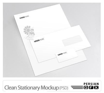 دانلود پیش نمایش پاکت نامه - Clean Stationary Mockup