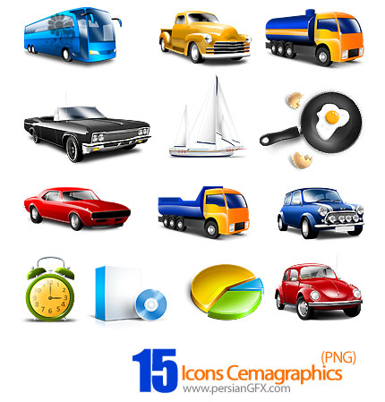 دانلود آیکون های گرافیکی متنوع - Icons Cemagraphics