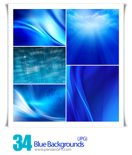 دانلود تصاویر بک گراند آبی رنگ - Blue Backgrounds