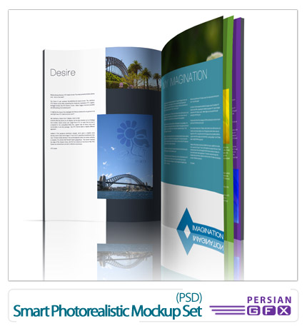 دانلود پیش نمایش تصاویر واقعی - Smart Photorealistic Mockup Set