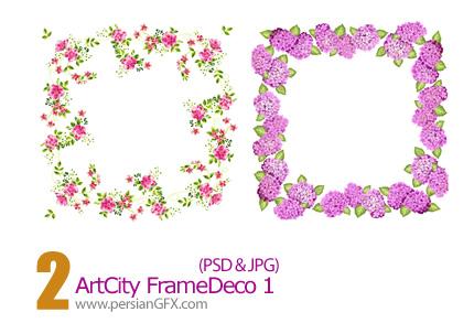 دانلود فریم گل دار - Art City Frame Deco 01