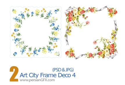 دانلود فریم گل دار - Art City Frame Deco 04