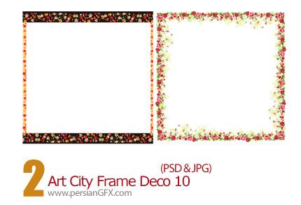 دانلود فریم گل دار - Art City Frame Deco 10